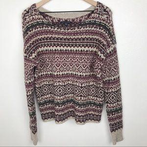 American Eagle Fair Isle Women's Sweater Size M